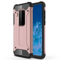 King Kong Armor Premium Shockproof Dual Layer Rugged Hard Cover for Motorola Moto P40 Note - Rose Gold