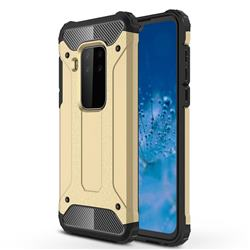 King Kong Armor Premium Shockproof Dual Layer Rugged Hard Cover for Motorola Moto P40 Note - Champagne Gold
