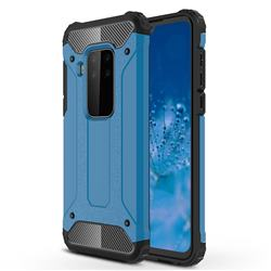 King Kong Armor Premium Shockproof Dual Layer Rugged Hard Cover for Motorola Moto P40 Note - Sky Blue