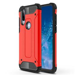King Kong Armor Premium Shockproof Dual Layer Rugged Hard Cover for Motorola Moto P40 Power - Big Red