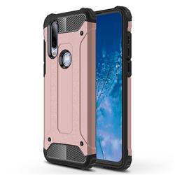 King Kong Armor Premium Shockproof Dual Layer Rugged Hard Cover for Motorola Moto P40 Power - Rose Gold