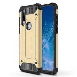 King Kong Armor Premium Shockproof Dual Layer Rugged Hard Cover for Motorola Moto P40 Power - Champagne Gold