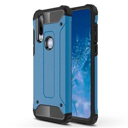 King Kong Armor Premium Shockproof Dual Layer Rugged Hard Cover for Motorola Moto P40 Power - Sky Blue