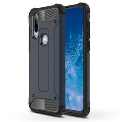 King Kong Armor Premium Shockproof Dual Layer Rugged Hard Cover for Motorola Moto P40 Power - Navy