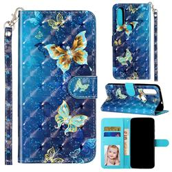 Rankine Butterfly 3D Leather Phone Holster Wallet Case for Motorola Moto P40 Power