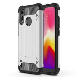 King Kong Armor Premium Shockproof Dual Layer Rugged Hard Cover for Motorola Moto P40 Play - White