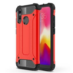 King Kong Armor Premium Shockproof Dual Layer Rugged Hard Cover for Motorola Moto P40 Play - Big Red