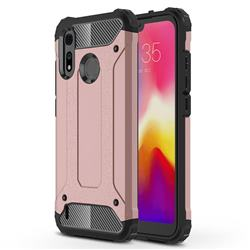 King Kong Armor Premium Shockproof Dual Layer Rugged Hard Cover for Motorola Moto P40 Play - Rose Gold