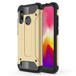 King Kong Armor Premium Shockproof Dual Layer Rugged Hard Cover for Motorola Moto P40 Play - Champagne Gold