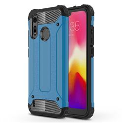 King Kong Armor Premium Shockproof Dual Layer Rugged Hard Cover for Motorola Moto P40 Play - Sky Blue