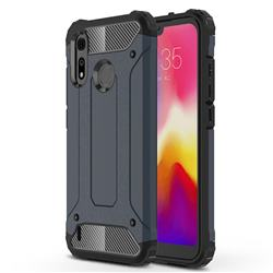 King Kong Armor Premium Shockproof Dual Layer Rugged Hard Cover for Motorola Moto P40 Play - Navy