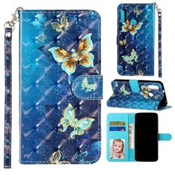 Rankine Butterfly 3D Leather Phone Holster Wallet Case for Motorola Moto P40 Play