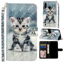 Kitten Cat 3D Leather Phone Holster Wallet Case for Motorola Moto P40 Play