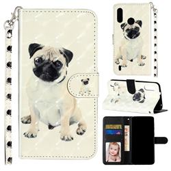 Pug Dog 3D Leather Phone Holster Wallet Case for Motorola Moto P40 Play