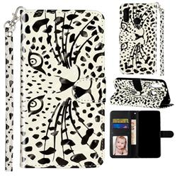 Leopard Panther 3D Leather Phone Holster Wallet Case for Motorola Moto P40 Play