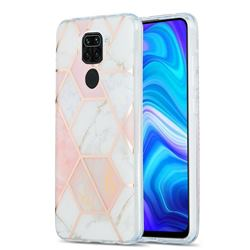 Pink White Marble Pattern Galvanized Electroplating Protective Case Cover for Xiaomi Redmi 10X 4G