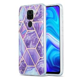 Purple Gagic Marble Pattern Galvanized Electroplating Protective Case Cover for Xiaomi Redmi 10X 4G
