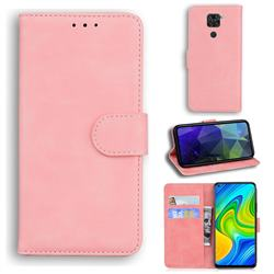 Retro Classic Skin Feel Leather Wallet Phone Case for Xiaomi Redmi 10X 4G - Pink