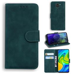Retro Classic Skin Feel Leather Wallet Phone Case for Xiaomi Redmi 10X 4G - Green