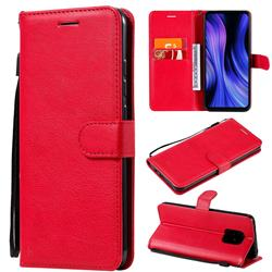 Retro Greek Classic Smooth PU Leather Wallet Phone Case for Xiaomi Redmi 10X 5G - Red