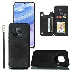 Luxury Mandala Multi-function Magnetic Card Slots Stand Leather Back Cover for Xiaomi Redmi 10X Pro 5G - Black