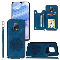 Luxury Mandala Multi-function Magnetic Card Slots Stand Leather Back Cover for Xiaomi Redmi 10X Pro 5G - Blue