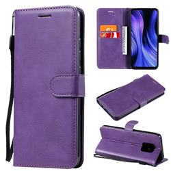 Retro Greek Classic Smooth PU Leather Wallet Phone Case for Xiaomi Redmi 10X Pro 5G - Purple