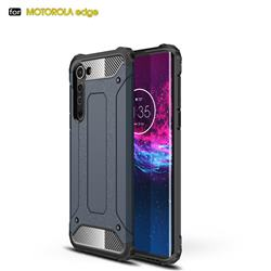 King Kong Armor Premium Shockproof Dual Layer Rugged Hard Cover for Moto Motorola Edge - Navy