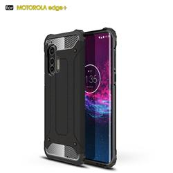 King Kong Armor Premium Shockproof Dual Layer Rugged Hard Cover for Moto Motorola Edge Plus - Black Gold