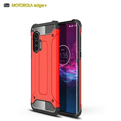 King Kong Armor Premium Shockproof Dual Layer Rugged Hard Cover for Moto Motorola Edge Plus - Big Red