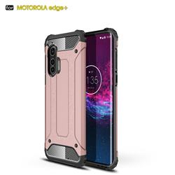 King Kong Armor Premium Shockproof Dual Layer Rugged Hard Cover for Moto Motorola Edge Plus - Rose Gold