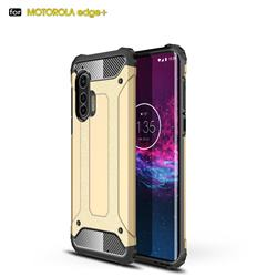 King Kong Armor Premium Shockproof Dual Layer Rugged Hard Cover for Moto Motorola Edge Plus - Champagne Gold