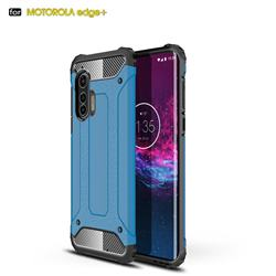 King Kong Armor Premium Shockproof Dual Layer Rugged Hard Cover for Moto Motorola Edge Plus - Sky Blue
