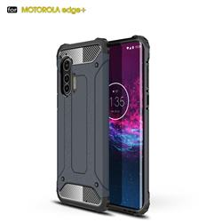 King Kong Armor Premium Shockproof Dual Layer Rugged Hard Cover for Moto Motorola Edge Plus - Navy