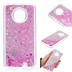 Glitter Sand Mirror Quicksand Dynamic Liquid Star TPU Case for Motorola Moto X4 (4th gen.) - Cherry Pink
