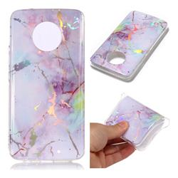 Pink Purple Marble Pattern Bright Color Laser Soft TPU Case for Motorola Moto X4 (4th gen.)