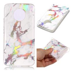 White Marble Pattern Bright Color Laser Soft TPU Case for Motorola Moto X4 (4th gen.)