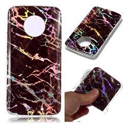 Black Brown Marble Pattern Bright Color Laser Soft TPU Case for Motorola Moto X4 (4th gen.)