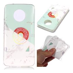 Donuts Marble Pattern Bright Color Laser Soft TPU Case for Motorola Moto X4 (4th gen.)