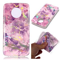 Purple Marble Pattern Bright Color Laser Soft TPU Case for Motorola Moto X4 (4th gen.)