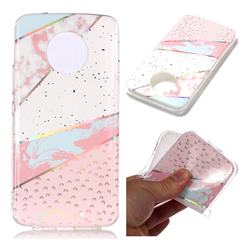 Matching Color Marble Pattern Bright Color Laser Soft TPU Case for Motorola Moto X4 (4th gen.)