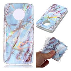 Light Blue Marble Pattern Bright Color Laser Soft TPU Case for Motorola Moto X4 (4th gen.)
