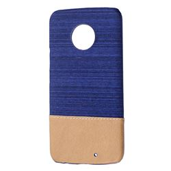 Canvas Cloth Coated Plastic Back Cover for Motorola Moto X4 (4th gen.) - Dark Blue