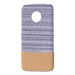 Canvas Cloth Coated Plastic Back Cover for Motorola Moto X4 (4th gen.) - Light Grey