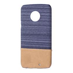 Canvas Cloth Coated Plastic Back Cover for Motorola Moto X4 (4th gen.) - Dark Grey