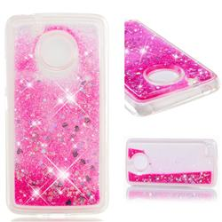 Dynamic Liquid Glitter Quicksand Sequins TPU Phone Case for Motorola Moto E4 (USA) - Rose