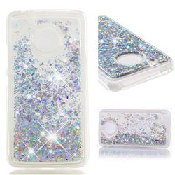 Dynamic Liquid Glitter Quicksand Sequins TPU Phone Case for Motorola Moto E4 (USA) - Silver