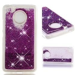 Dynamic Liquid Glitter Quicksand Sequins TPU Phone Case for Motorola Moto E4 (USA) - Purple