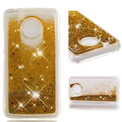 Dynamic Liquid Glitter Quicksand Sequins TPU Phone Case for Motorola Moto E4 (USA) - Golden
