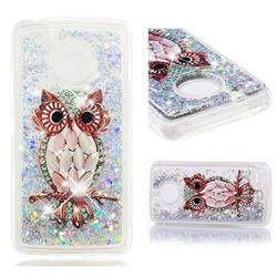 Seashell Owl Dynamic Liquid Glitter Quicksand Soft TPU Case for Motorola Moto E4 (USA)